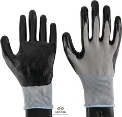 13G polyester lining Nitrile coated gloves